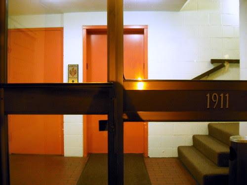 two pink elevators