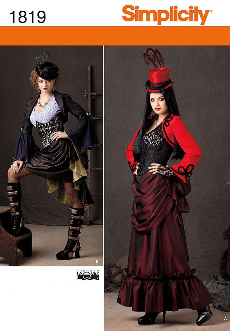 Diy Sewing Pattern-Simplicity 1819-Steampunk Bolero,Top, Corset and Bustle Skirt-Plus Size. $6.00, via Etsy.