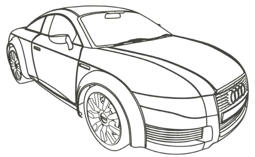Audi R8 Coloring Pages Sketch Coloring Page