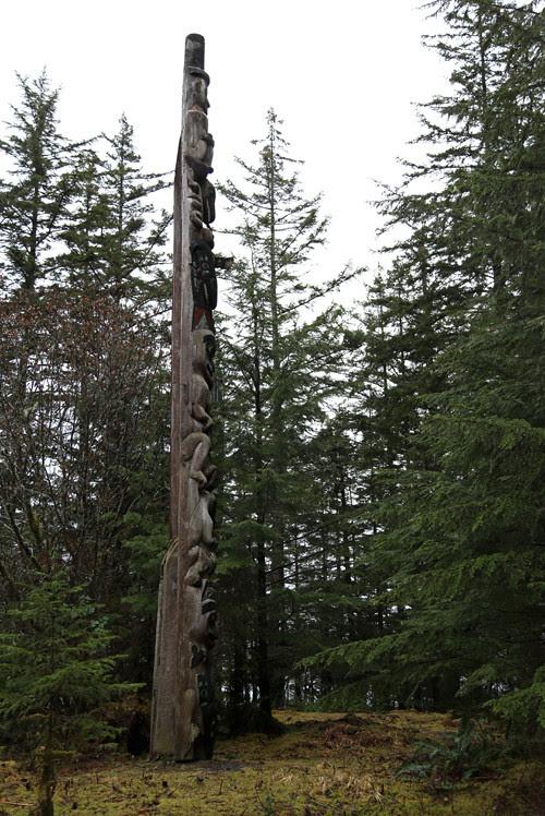 East Pole, Totems Historic District, Kasaan, Alaska