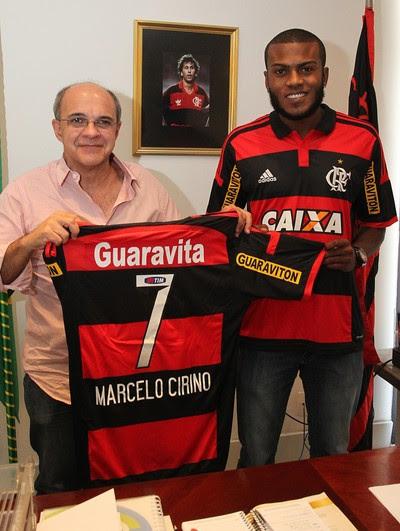 Apresentação Marcelo Cirino Flamengo (Foto: Gilvan de Souza / Flamengo)