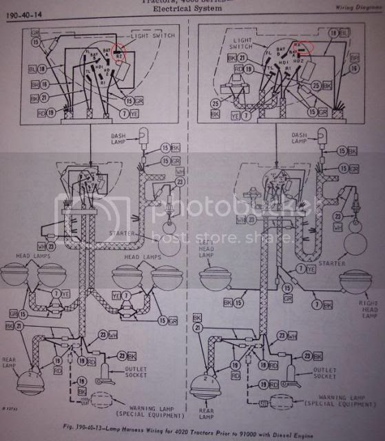 John Deere 3020 Light Switch Wiring Diagram