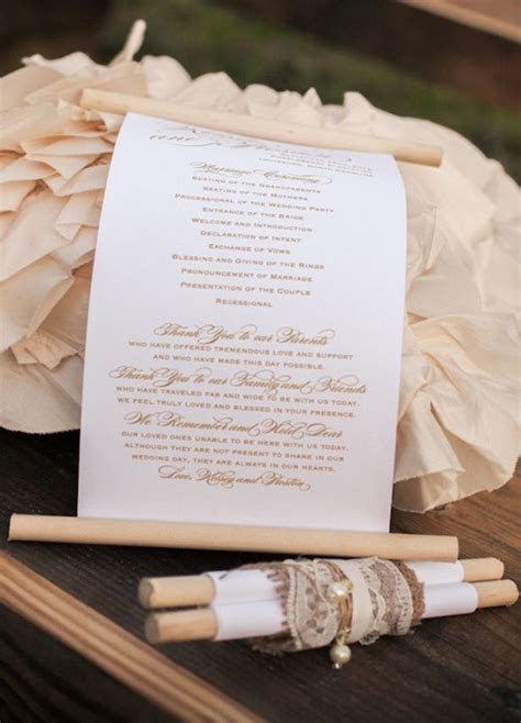 Creative idea   scrolls for programs! Love this could work