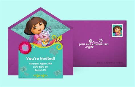 Free Dora Invitations, Dora the Explorer Online