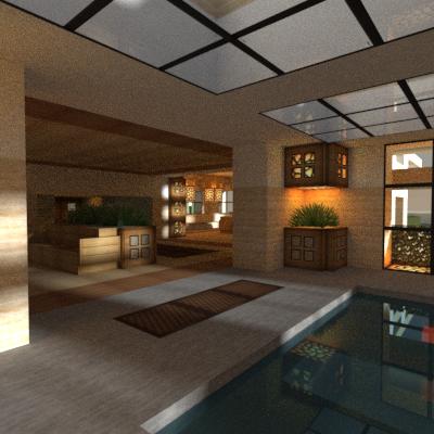 Modern Desert Home. : Minecraft