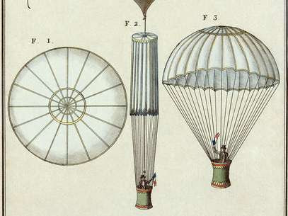 Primeiro salto de paraquedas: André-Jacques Garnerin ocorreu em Paris, na França Foto: Wikimedia