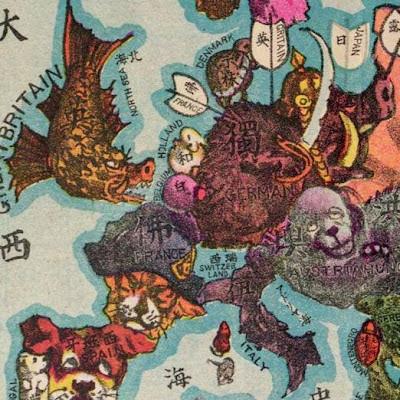 (detail) map of western Europe