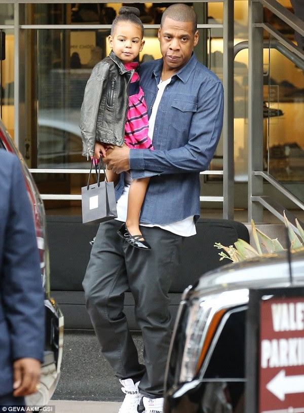 blue ivy bun and jay z