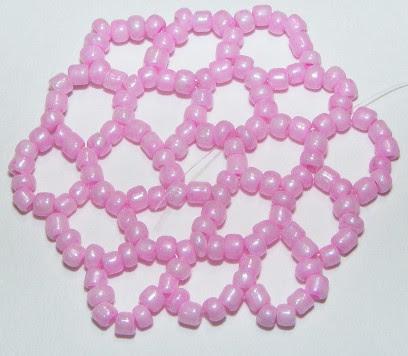 rete esagonale di perline di conteria