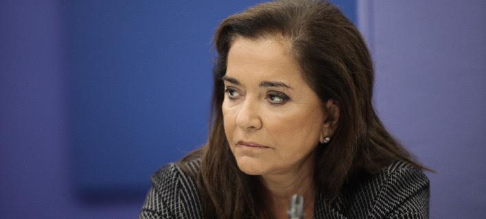 Η βουλευτής της ΝΔ, Ντόρα Μπακογιάννη. Πηγή φωτό: Eurokinissi/ Γιάννης Παναγόπουλος
