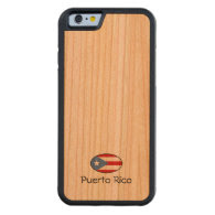 Puerto Rico Custom Carved® Cherry iPhone 6 Bumper