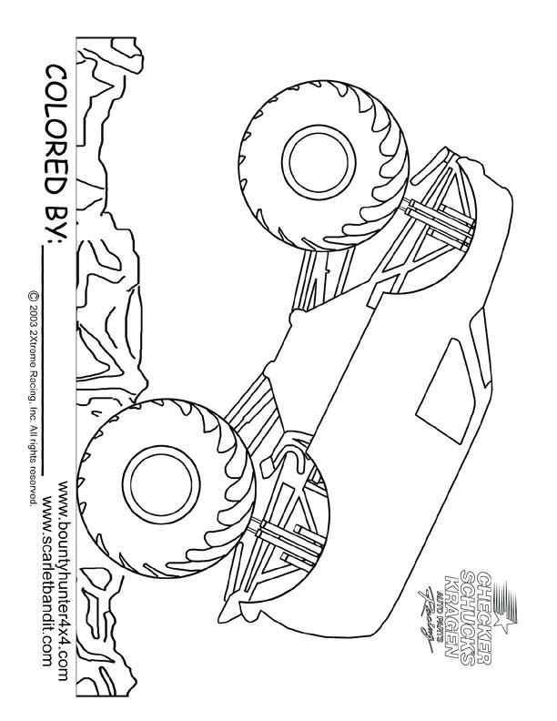 Grave Digger Monster Truck Drawing at GetDrawings | Free ...