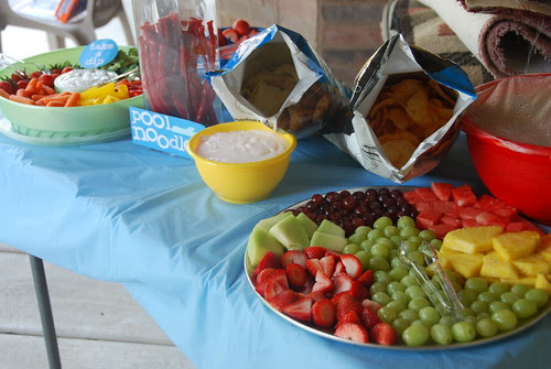 party snacks table