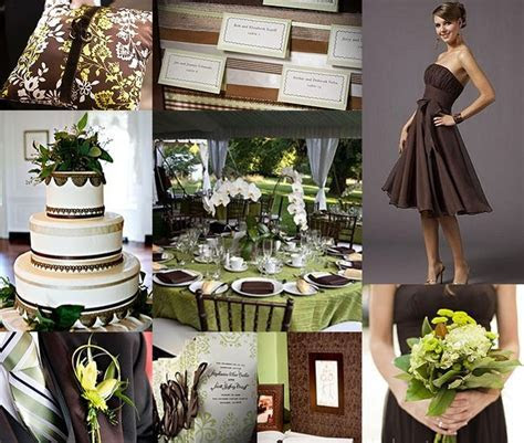 Chocolate Brown and Sage Green Wedding   two colors I