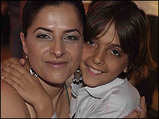 Rocket victim Irit Shitrit with her youngest son Tal