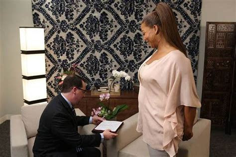 Queen Latifah's behind the scenes at Grammys wedding ceremony