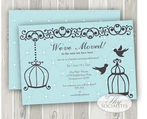 Birdcage Invitation Housewarming Invitation by ShySocialites