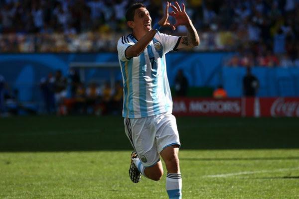 Di María marcou o gol que garantiu a classificação da Argentina no final da prorrogação