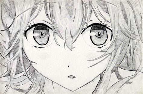cute anime drawings anime eyes close  drawing manga