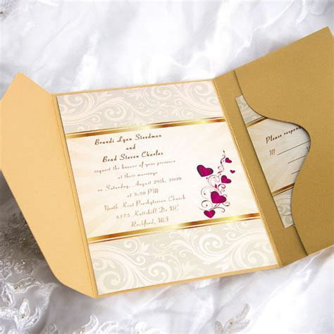 Cheap Pocket Wedding Invitations From