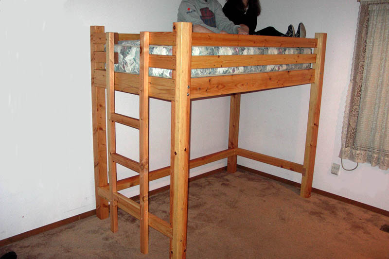 Bunk bed woodworking plans easel wood loft bed plans solutioingenieria Images