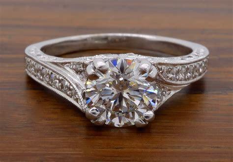 Vintage Inspired Shane Co Engagement Ring   Property Room