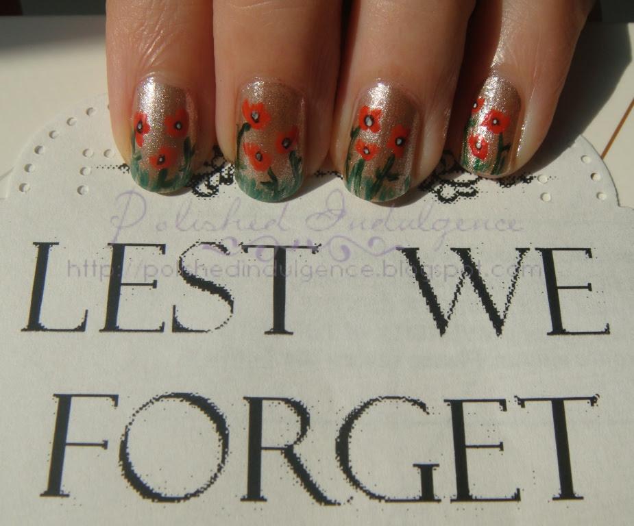 poppy nail art