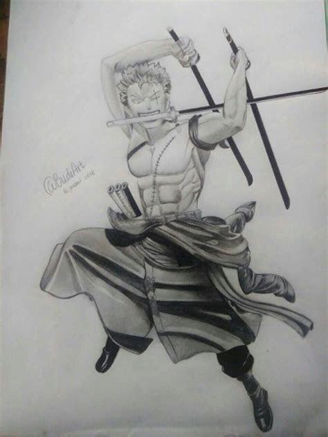 simple steps  drawing anime figures roronoa zoro