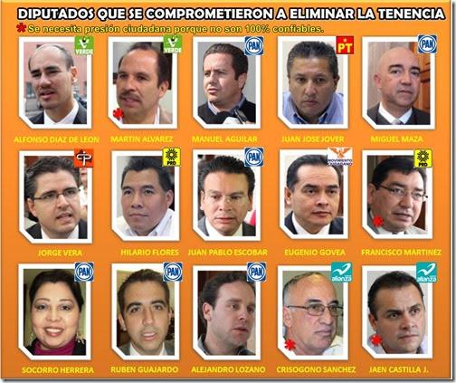 Los 15 Diputados contra la Tenencia
