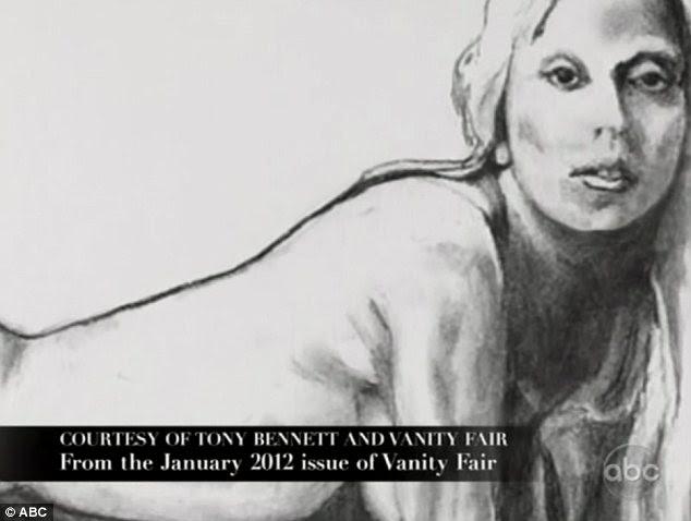 Não tímido: O desenho naked, que aparecerá na edição de janeiro da revista Vanity Fair mostra o cantor estava em sua frente