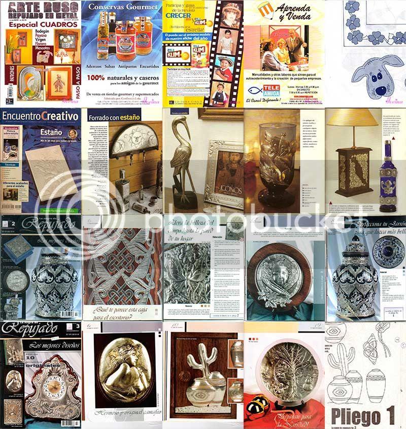repujado, manualidades, revistas