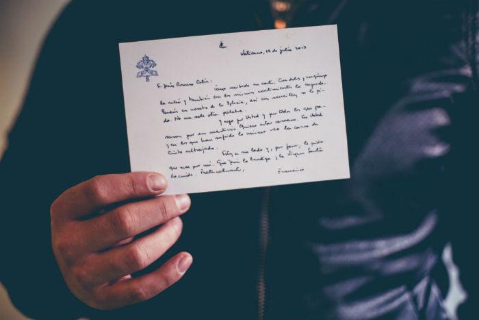 La respuesta del Papa  Francisco a Jesús Romero, una de las víctimas de pederastia en México. Foto: Francisco Cañedo, SinEmbargo