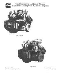 Cummins Big Cam III and Big Cam IV NT855 Diesel Engine PDF