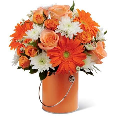 Charmed Orange Flowers Bouquet at Send Flowers