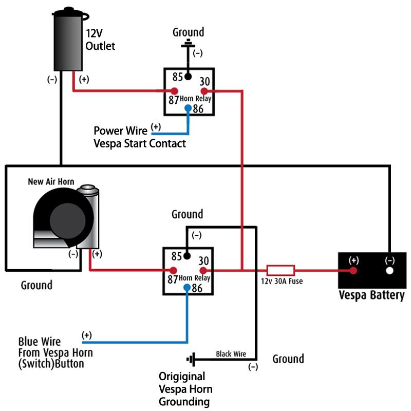 Madcomics 12v Horn Relay Diagram