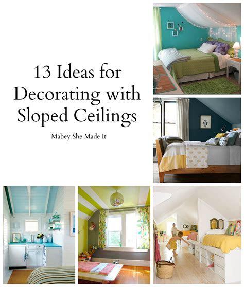 sloped ceiling bedroom design ideas mabey