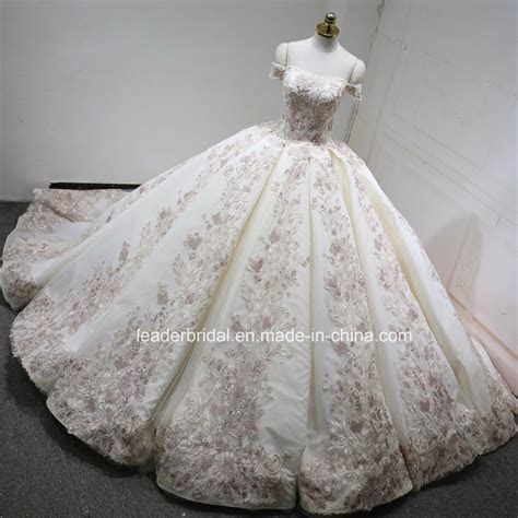 China off Shoulder Bridal Ball Gowns Blush Pink Color