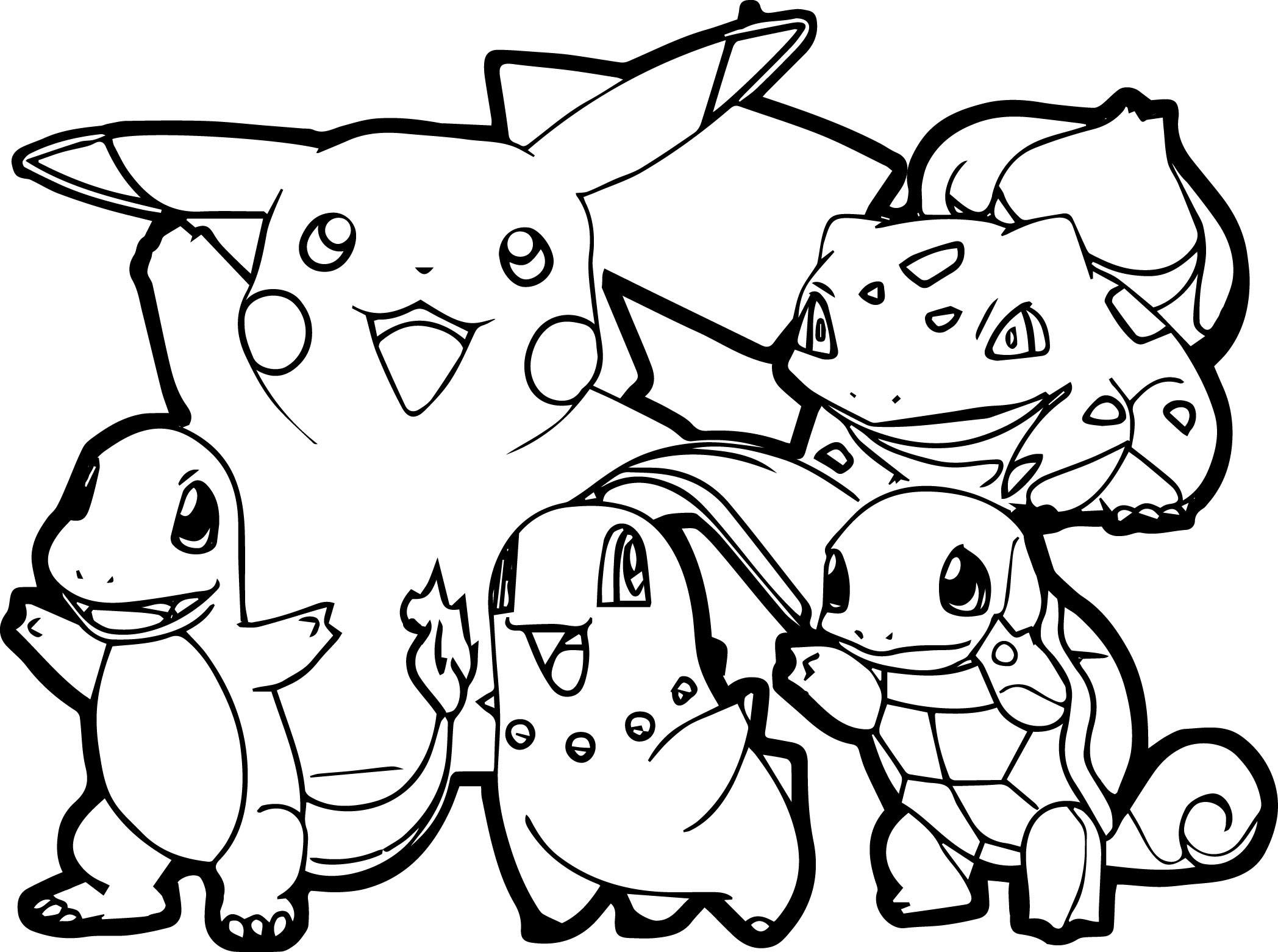 pokemon ausmalbilder pikachu und evoli  malvorlagen