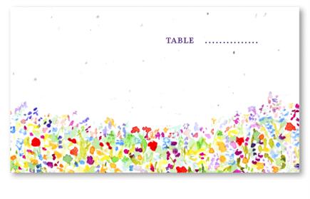 Wildflowers Prairie Table Cards