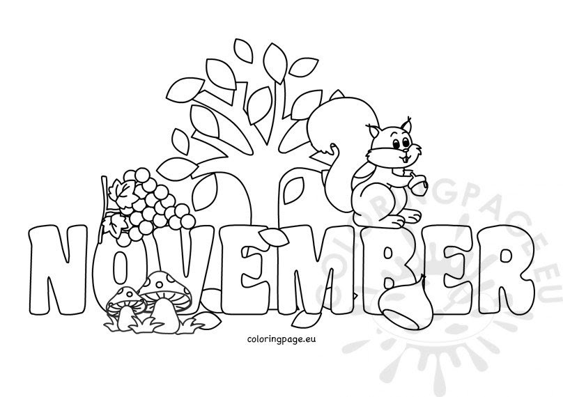 Coloring Pages For Kids November - Hd Football