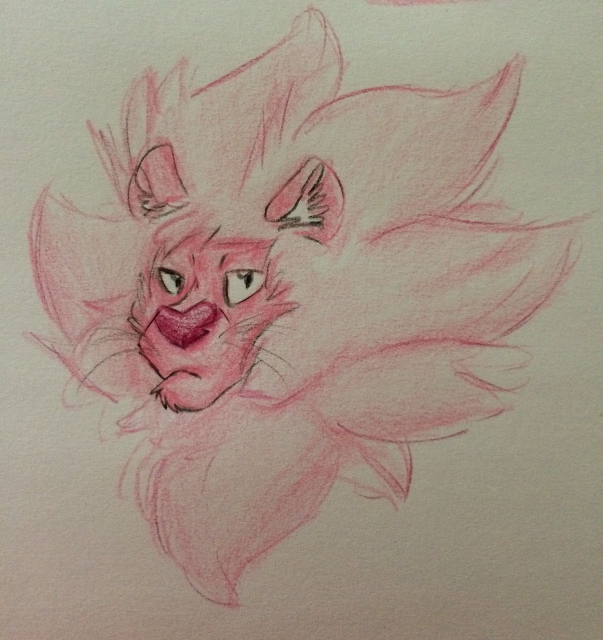 Cotton Candy Feline I drew a Lion at school, and i really liked it :3 Behold, the cotton candy of the jungle!! (TBH I'd bury my face in his fluffy mane) Art by me Lion, Steven Universe belong to...