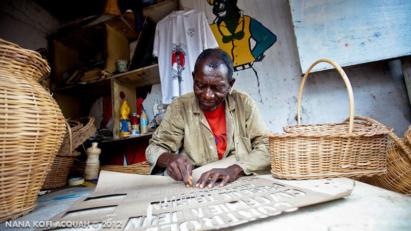 Douala artist at work