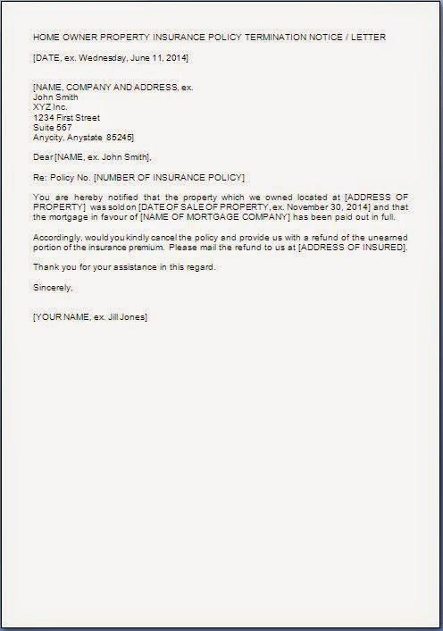Auto insurance cancellation letter - insurance