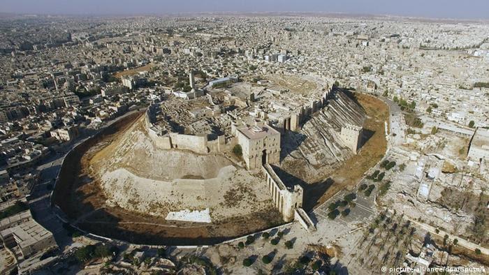 Luftbildaufnahme vom Osten Aleppos (Foto: Picture Alliance)