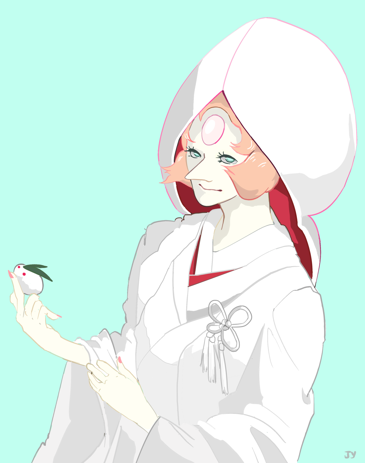 Shinto bride pearl for everyone to fall in love with today! If you blog about SU reblog this post so I can follow you! :) Follow me @merrymeprince for more of my art! I hope you enjoy your stay!