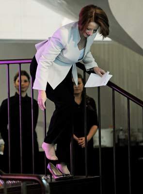 PM Julia Gillard Shoe Slip