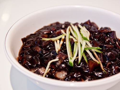 Jajangmyeon (black bean noodles)