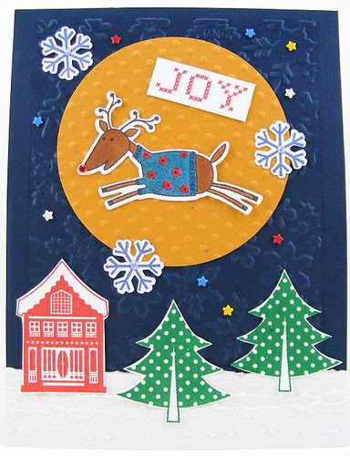 Joy Reindeer Card