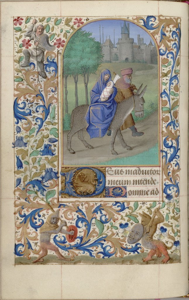 bible scene painted in book of hours