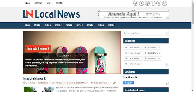 Blogger Template LocalNews